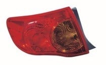 2009 - 2010 Toyota Corolla Outer Tail Light - Left (Driver)
