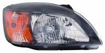 2010 - 2011 Kia Rio Front Headlight Assembly Replacement Housing / Lens / Cover - Right (Passenger)