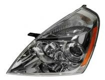 2007 Kia Sedona Front Headlight Assembly Replacement Housing / Lens / Cover - Left (Driver)