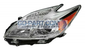 2012-2012 Toyota Prius Headlight Assembly - Left (Driver)
