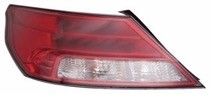 2012 - 2014 Acura TL Rear Tail Light Assembly Replacement / Lens / Cover - Left (Driver)