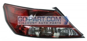 2012-2012 Acura TL Tail Light Rear Brake Lamp - Left (Driver)