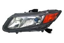 2012 Honda Civic Hybrid Front Headlight Assembly Replacement Housing / Lens / Cover - Left (Driver)