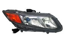 2012 Honda Civic Hybrid Front Headlight Assembly Replacement Housing / Lens / Cover - Right (Passenger)