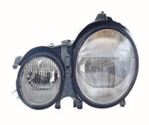 2000 - 2003 Mercedes Benz E320 Front Headlight Assembly Replacement Housing / Lens / Cover - Left (Driver)