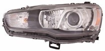 2008 - 2015 Mitsubishi Lancer Headlight Assembly - Left (Driver)