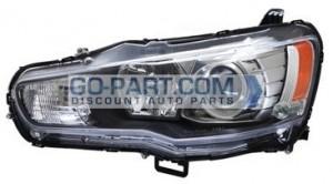 2008-2013 Mitsubishi Lancer Headlight Assembly - Left (Driver)