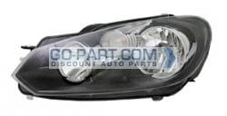 2010-2012 Volkswagen Jetta Headlight Assembly - Left (Driver)