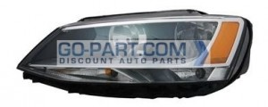 2011-2013 Volkswagen Jetta Headlight Assembly - Left (Driver)