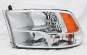 2009-2010 Dodge Pickup (Full Size) Headlight (w/ quad lamps) - Left (Driver)
