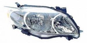 2009-2010 Toyota Corolla Headlight Assembly (Base/CE/LE/XLE) - Right (Passenger)