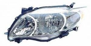 2009-2010 Toyota Corolla Headlight Assembly (Base/CE/LE/XLE) - Left (Driver)