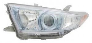 2011-2013 Toyota Highlander Hybrid Headlight Assembly - Left (Driver)