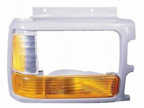 1991-1996 Dodge Dakota Headlight Bezel (with Composite lamp / with Lens / Prime) - Right (Passenger)