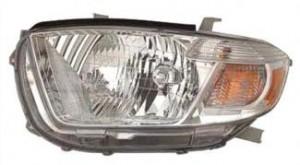 2010-2010 Toyota Highlander Headlight Assembly - Left (Driver)