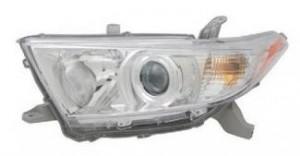 2011-2012 Toyota Highlander Headlight Assembly - Left (Driver)