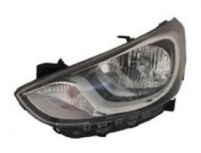 2012-2013 Hyundai Accent Headlight Assembly - Left (Driver)