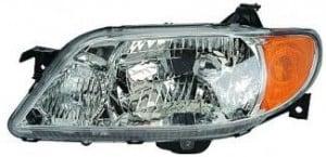 2001-2003 Mazda Protege Headlight Assembly (Sedan / with Aluminum Bezel) - Left (Driver)