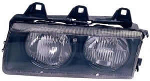 1992 -  1995 BMW 325i Front Headlight Assembly Replacement Housing / Lens / Cover - Left (Driver) Side