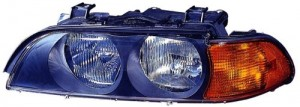 1998 - 2000 BMW 528i Front Headlight Assembly Replacement Housing / Lens / Cover - Left (Driver) Side