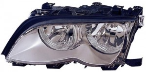 2002 -  2005 BMW 325i Front Headlight Assembly Replacement Housing / Lens / Cover - Left (Driver) Side - (Sedan + Wagon)