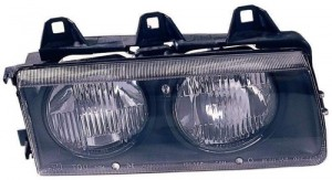 1992 -  1995 BMW 325i Front Headlight Assembly Replacement Housing / Lens / Cover - Right (Passenger) Side