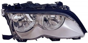 2002 -  2005 BMW 325i Front Headlight Assembly Replacement Housing / Lens / Cover - Right (Passenger) Side - (Sedan + Wagon)