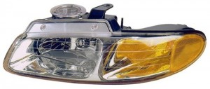 1996 -  1999 Chrysler Town & Country Front Headlight Assembly Replacement Housing / Lens / Cover - Left (Driver) Side
