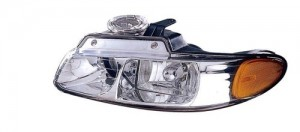 1998 -  1999 Chrysler Town & Country Front Headlight Assembly Replacement Housing / Lens / Cover - Left (Driver) Side