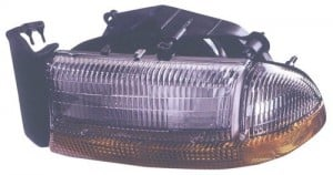 1998 -  2004 Dodge Dakota Front Headlight Assembly Replacement Housing / Lens / Cover - Left (Driver) Side