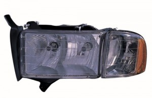 1999 -  2002 Dodge Ram 3500 Front Headlight Assembly Replacement Housing / Lens / Cover - Left (Driver) Side