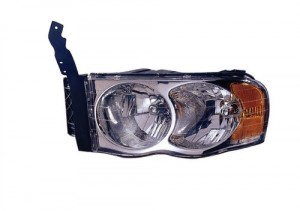 2002 -  2005 Dodge Ram 3500 Front Headlight Assembly Replacement Housing / Lens / Cover - Left (Driver) Side