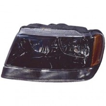 1999 -  2004 Jeep Grand Cherokee Front Headlight Assembly Replacement Housing / Lens / Cover - Left (Driver) Side - (Laredo + Sport)