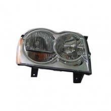 2005 -  2007 Jeep Grand Cherokee Front Headlight Assembly Replacement Housing / Lens / Cover - Left (Driver) Side
