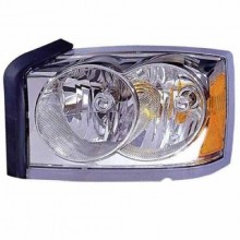2006 -  2007 Dodge Dakota Front Headlight Assembly Replacement Housing / Lens / Cover - Left (Driver) Side