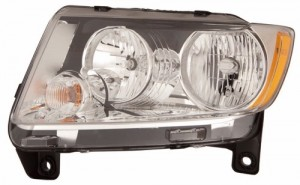 2011 -  2013 Jeep Grand Cherokee Headlight Assembly - Left (Driver) Side