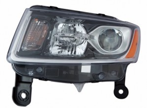 2014 -  2015 Jeep Grand Cherokee Front Headlight Assembly Replacement Housing / Lens / Cover - Left (Driver) Side