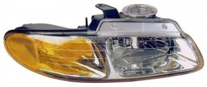1996 -  1999 Chrysler Town & Country Front Headlight Assembly Replacement Housing / Lens / Cover - Right (Passenger) Side