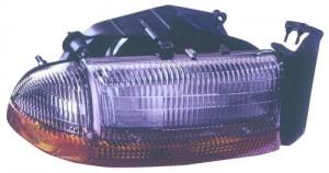 1997 Dodge Dakota Front Headlight Assembly Replacement Housing / Lens / Cover - Right (Passenger) Side