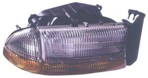 1998 -  2004 Dodge Dakota Front Headlight Assembly Replacement Housing / Lens / Cover - Right (Passenger) Side