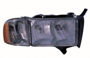 1999 -  2002 Dodge Ram 3500 Front Headlight Assembly Replacement Housing / Lens / Cover - Right (Passenger) Side