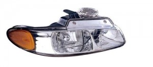 2000 Chrysler Town & Country Front Headlight Assembly Replacement Housing / Lens / Cover - Right (Passenger) Side