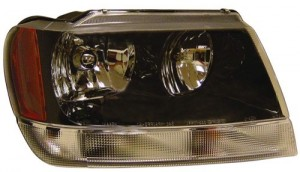1999 -  2004 Jeep Grand Cherokee Front Headlight Assembly Replacement Housing / Lens / Cover - Right (Passenger) Side - (Laredo + Sport)
