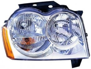 2005 -  2007 Jeep Grand Cherokee Front Headlight Assembly Replacement Housing / Lens / Cover - Right (Passenger) Side