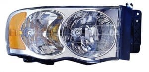 2004 -  2005 Dodge Ram 3500 Front Headlight Assembly Replacement Housing / Lens / Cover - Right (Passenger) Side