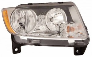 2011 -  2013 Jeep Grand Cherokee Front Headlight Assembly Replacement Housing / Lens / Cover - Right (Passenger) Side
