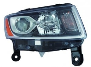 2014 -  2015 Jeep Grand Cherokee Front Headlight Assembly Replacement Housing / Lens / Cover - Right (Passenger) Side