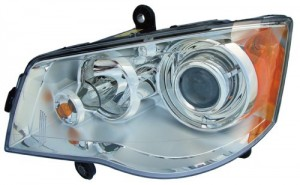 2008 -  2016 Chrysler Town & Country Front Headlight Assembly Replacement Housing / Lens / Cover - Left (Driver) Side
