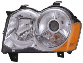 2008 -  2010 Jeep Grand Cherokee Front Headlight Assembly Replacement Housing / Lens / Cover - Left (Driver) Side