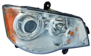 2008 -  2016 Chrysler Town & Country Front Headlight Assembly Replacement Housing / Lens / Cover - Right (Passenger) Side